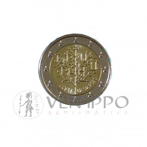 Estonia, cartera oficial de 2€ FDC, 2020, Centenario Paz de Tartu.