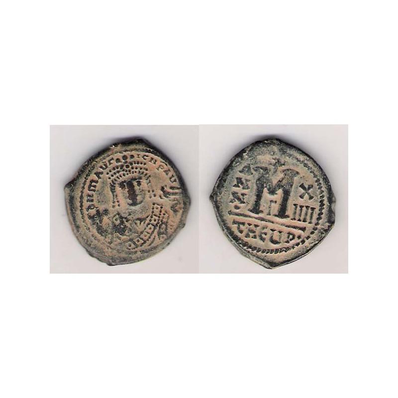 IMPERIO BIZANTINO, 40 NUMMI AE, MAURICIO TIBERIO 595/6, MBC