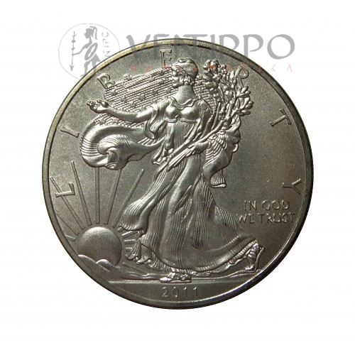 Estados Unidos, Dollar Plata ( 1 Oz. 999 mls ) Liberty Eagle, 2011.