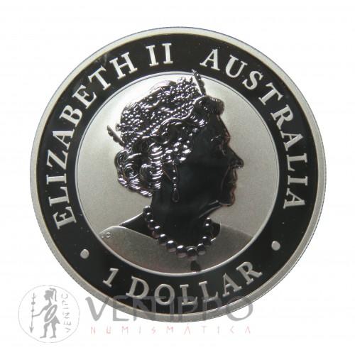 Australia, Dollar plata ( 1 OZ. 999 mls. ) Emu 2019, BU.