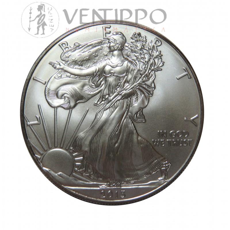 Estados Unidos, Dollar Plata ( 1 OZ. 999 mls. ) Liberty Eagle 2013, S/C