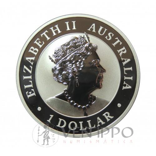 Australia, Dollar Plata ( 1 OZ. 9999 mls) Emu 2020, BU
