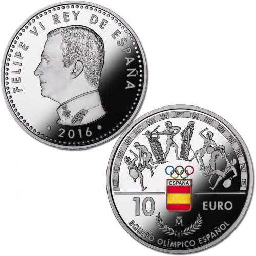 10 € PLATA PROOF 2016, EQUIPO OLÍMPICO ESPAÑOL RÍO 16