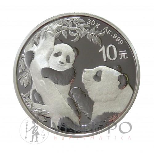 China, 10 Yuan plata ( 1 OZ. ley 999 mls. ) Panda 2021,BU.