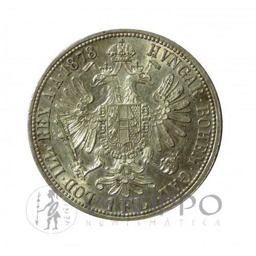 Austria, 1 Florín Plata, 1878, EBC+