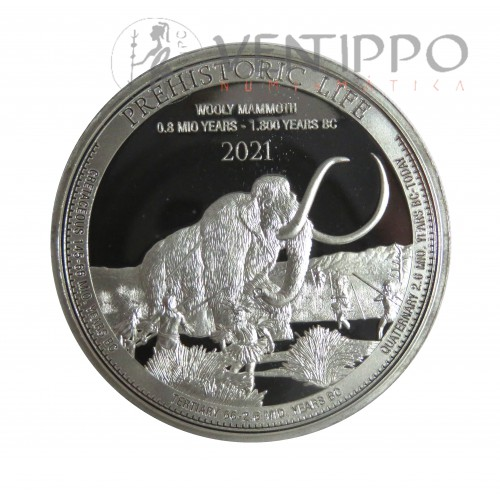 Congo, 20 Francs Plata ( 1 OZ. 999 mls. ) 2021, Mamut Lanudo, BU.