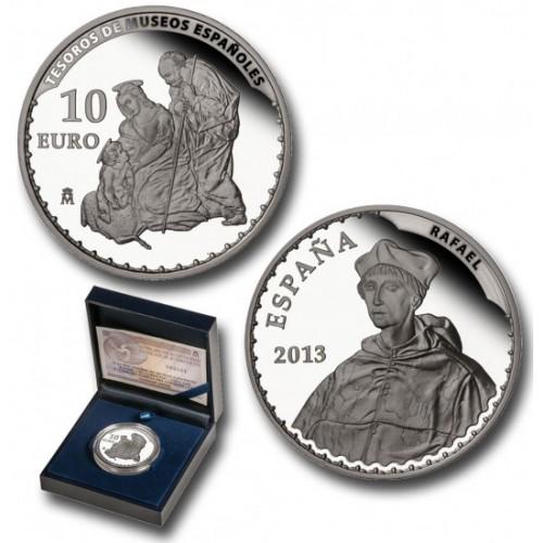 10 € PLATA PROOF, 2013, TESOROS MUSEOS ESPAÑOLES, RAFAEL