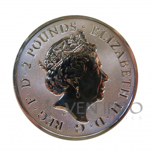 Gran Bretaña, 2 Pounds plata ( 1 OZ. 999 mls. ) Valiant 2021, BU.