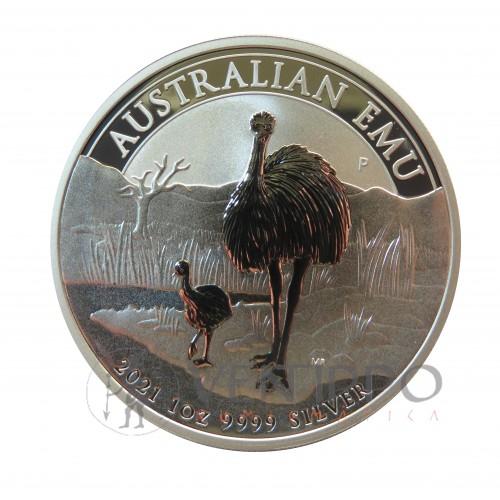 Australia, Dollar Plata ( 1 OZ. 999 mls. ) Emu 2021, BU.