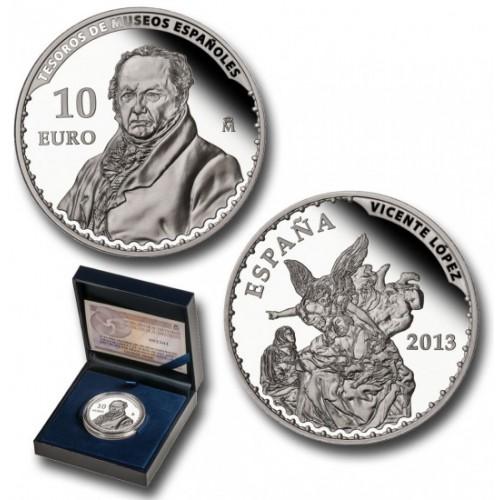 10 € PLATA PROOF, 2013, TESOROS MUSEOS ESPAÑOLES, VICENTE LÓPEZ