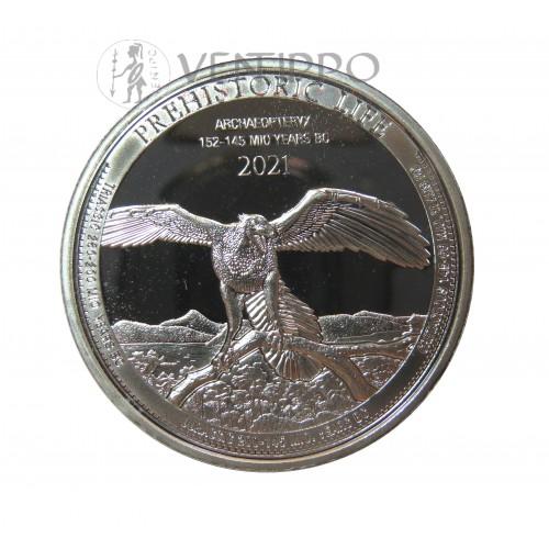 Congo, 20 Francs Plata ( 1 OZ. 999 mls. ) 2021 Archaeopteryx, BU.