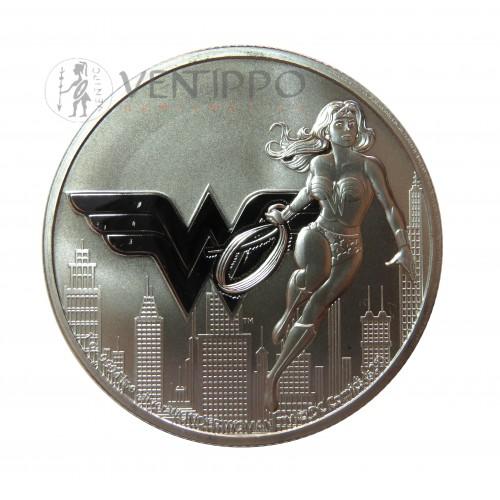Niue, 2 $ Plata ( 1 OZ. 999 mls. ) 2021 Serie DC Comics, Wonder Woman.