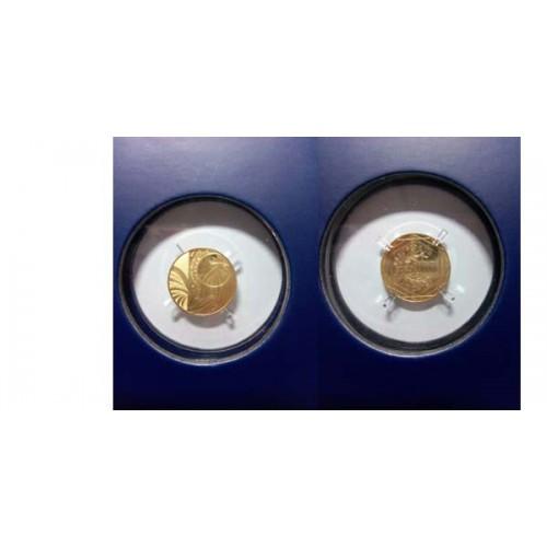 FRANCIA, 100 € ORO ( 1,8 grs., LEY 999 mls. ) 2015, FDC, GALLO