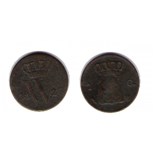 HOLANDA, 1 CENT., WILHEM I 1827, MUY RARA