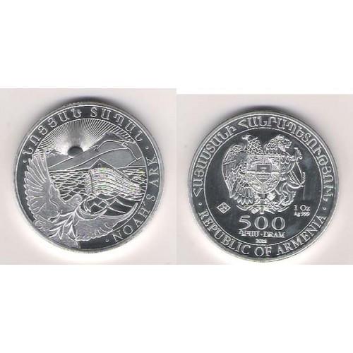 ARMENIA, 500 DRAM PLATA ( 1 OZ. 999 mls. ) ARCA DE NOÉ, 2018 BU