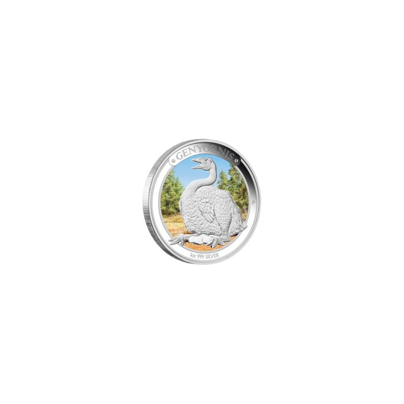 AUSTRALIA, 1 $ ( 1 OZ. PLATA 999 mls. ) MEGAFAUNA 3, GENYORNIS,