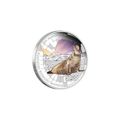 AUSTRALIA, 1 $ PLATA ( 1 0Z. 999 mls) ELEFANTE MARINO, 2015 PROO