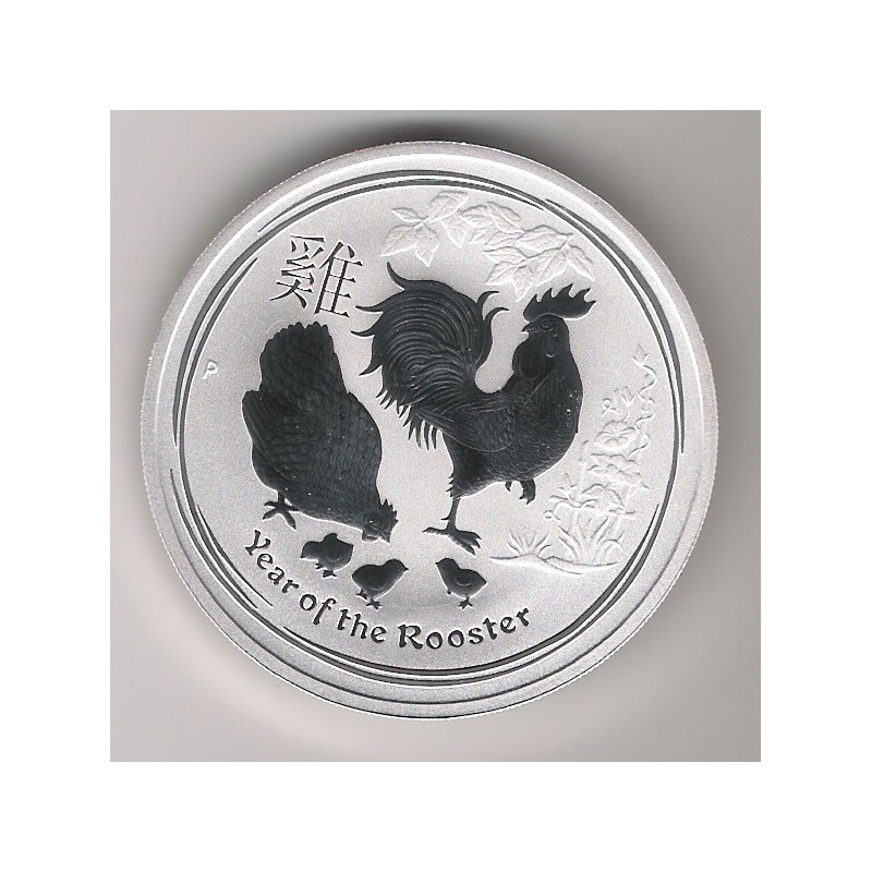 AUSTRALIA, 1 $ PLATA ( 1 OZ. 999 mls) AÑO DEL GALLO, 2017 BU