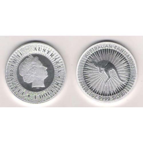 AUSTRALIA, 1 $ PLATA ( 1 OZ. 999 mls. ) CANGURO PERTH 2018, S/C