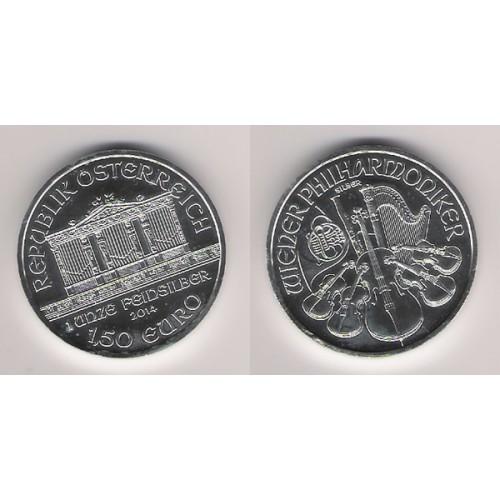 AUSTRIA, 1'5 € ( 1 OZ. 999 mls. ), FILARMÓNICA 2014