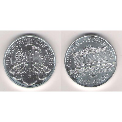 AUSTRIA, 1,5€ PLATA ( 1 OZ. 999 mls.), FILARMÓNICA 2017