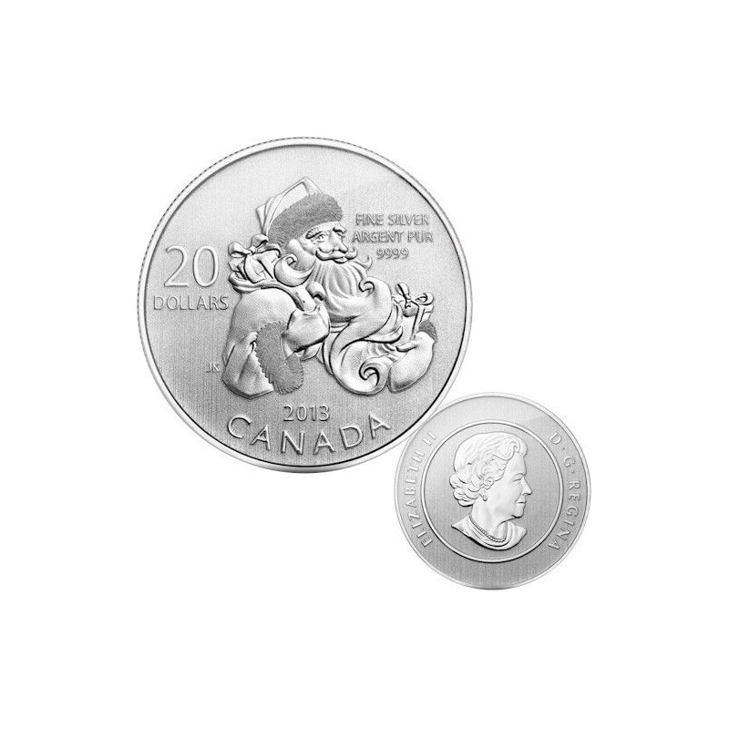CANADÁ, 20 $ PLATA ( 7'96 grs., LEY 999 mls. ) SANTA CLAUS 2013