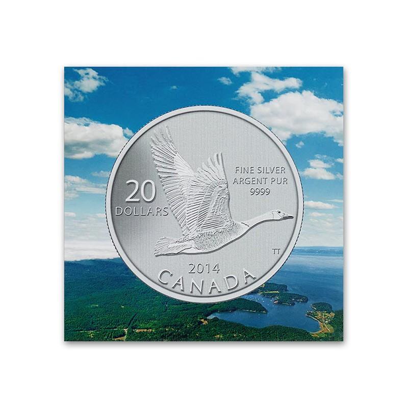 CANADÁ, 20 $ PLATA ( 7'96 grs., LEY 9999 mls. ) 2014 GANSO