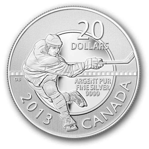 CANADÁ, 20 $ PLATA ( 7'96 grs., LEY 9999 mls. ), HOCKEY 2013