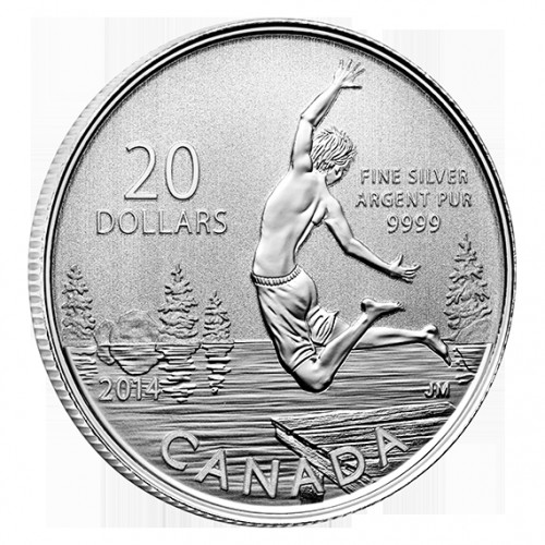 CANADÁ, 20 $ PLATA ( 7'96 grs., LEY 9999 mls. ), VERANO 2014