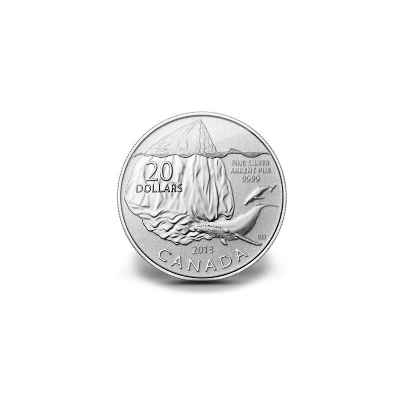 CANADÁ, 20 $ PLATA ( 7,95 grs ley 9999 mls) ICEBERG 2013