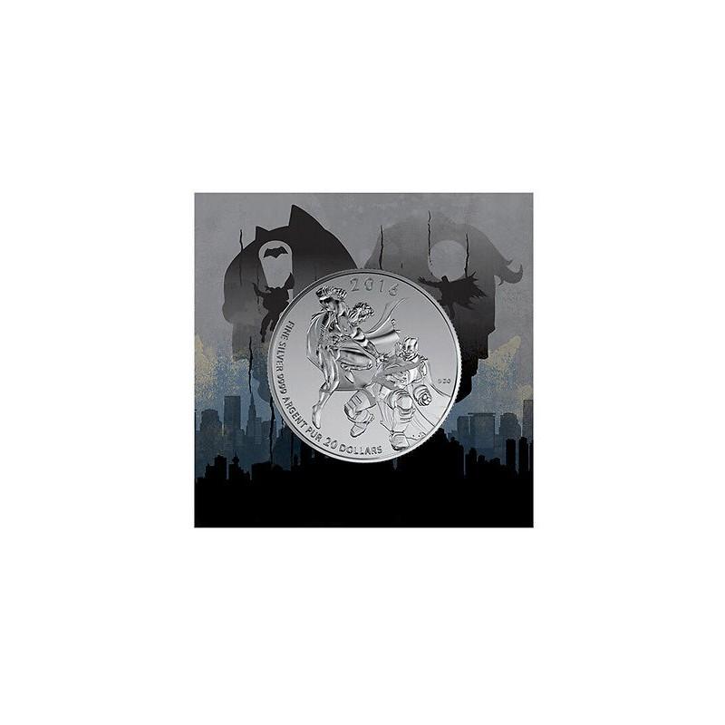 CANADÁ, 20 $ PLATA (7,96 grs ley 9999 mls), BATMAN VS SUPERMAN 2