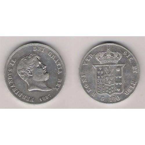 NÁPOLES Y SICILIA, 120 GRANA PLATA, FERNANDO II, MBC