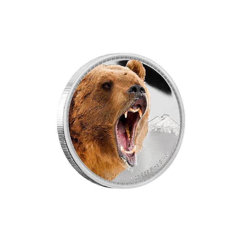 NIUE, 2 $ PLATA ( 1 OZ. 999 mls. ) GRIZZLY 2016 PROOF