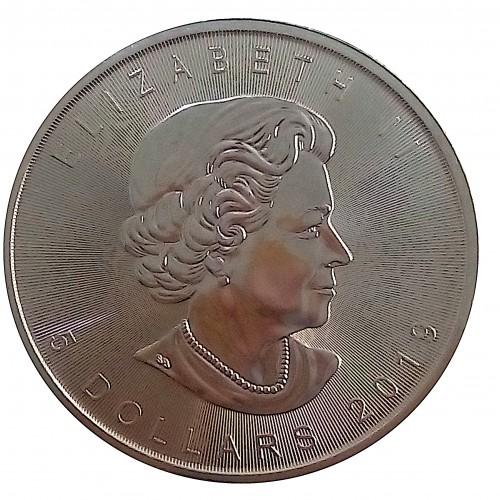 Canadá, 5 $ plata ( 1 OZ. 9999 mls. ) Hoja de Arce 2019, S/C