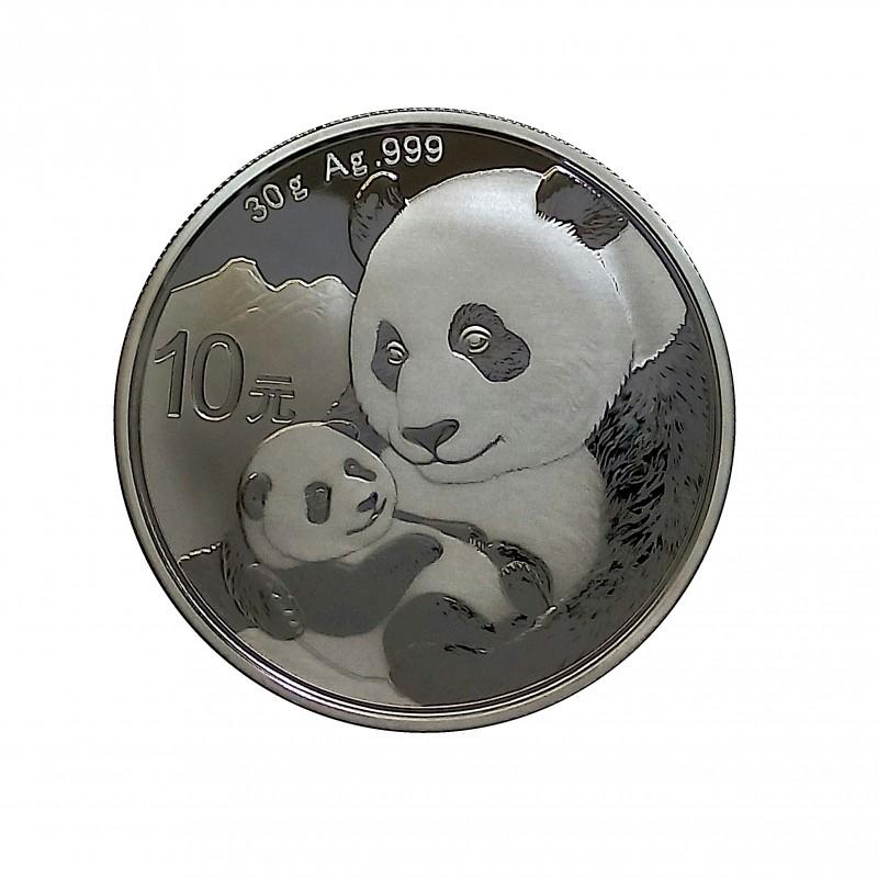 China, 10 Yuan Plata ( 1 OZ. 999 mls. ) Panda 2019, BU.
