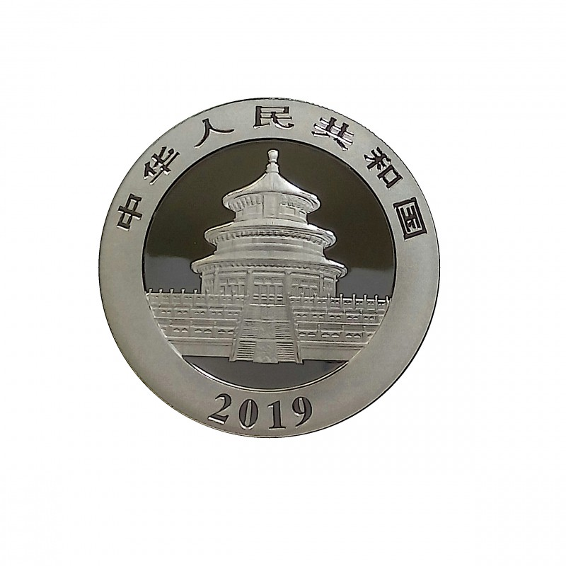 China, 10 Yuan Plata ( 1 OZ. 999 mls. ) Panda 2019, BU.
