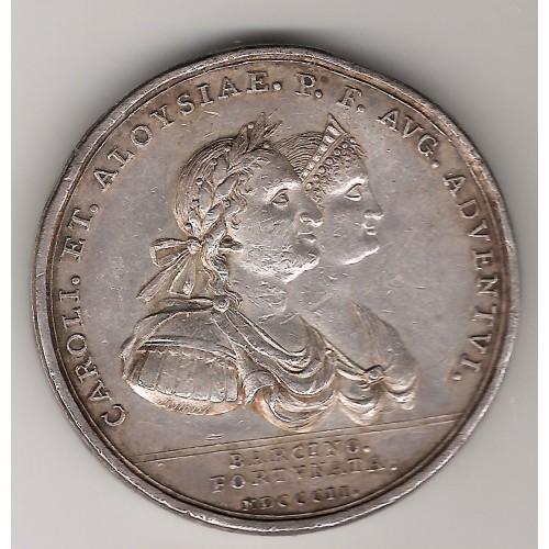 Carlos IV, medalla visita real a Barcelona, 1802 MBC+