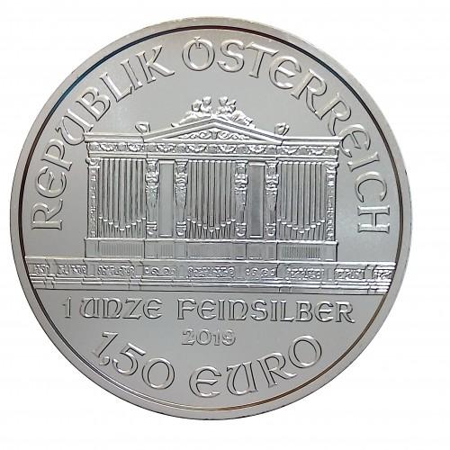 Austria, 1,5 € Plata ( 1 OZ. ley 999 mls. ) Filarmónica 2019, S/C