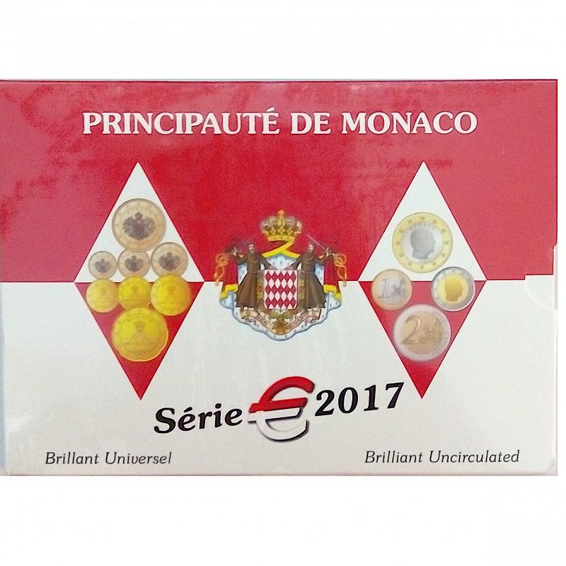 Mónaco, Cartera Oficial 8 Valores, 2017 FDC.
