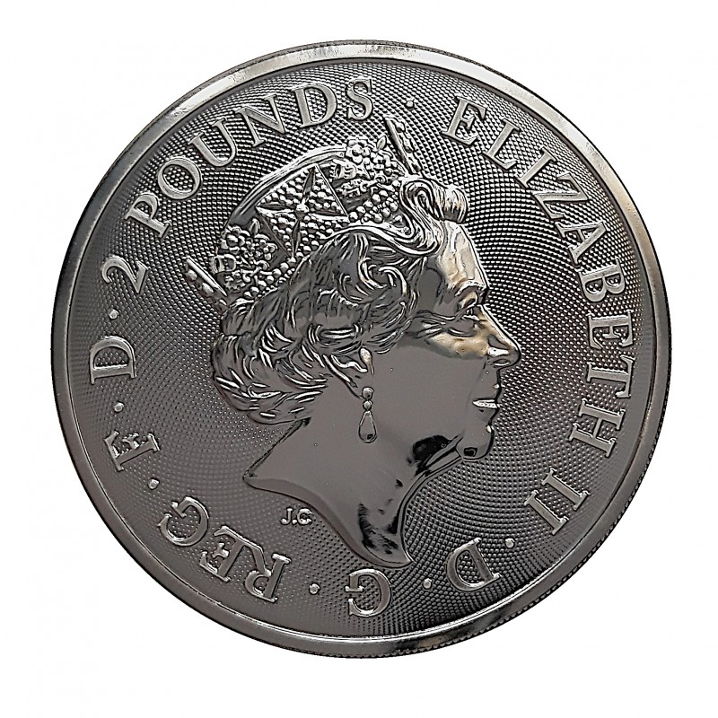 Gran Bretaña, 2 pounds plata (1 OZ. 999 mls), Buckingham Palace 2019 BU