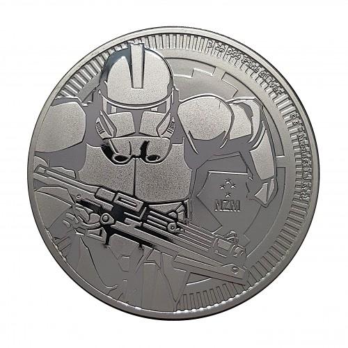 Nive, 2 $ Plata ( 1 OZ. 999 mls. ) 2019, Clone Trooper, BU.