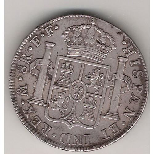 Carlos III, 8 Reales 1783 Mexico F.F., Mbc/Mbc+