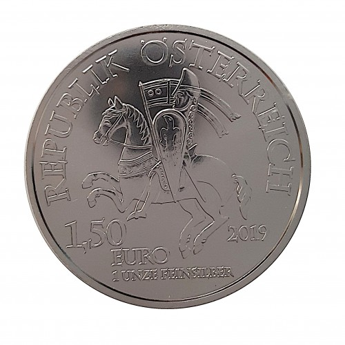 Austria, 1'5 € Plata ( 1 OZ 999 mls. ) 2019, Leopold V.