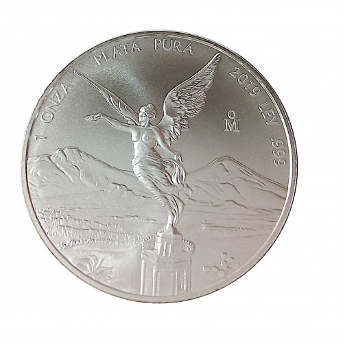 México, Onza plata ( 1 OZ. 999 mls. ) Libertad 2019.