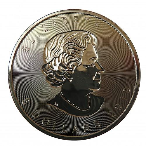 Canadá, 5 $ Plata ( 1 OZ. 9999 mls) Hoja de Arce incusa 2019
