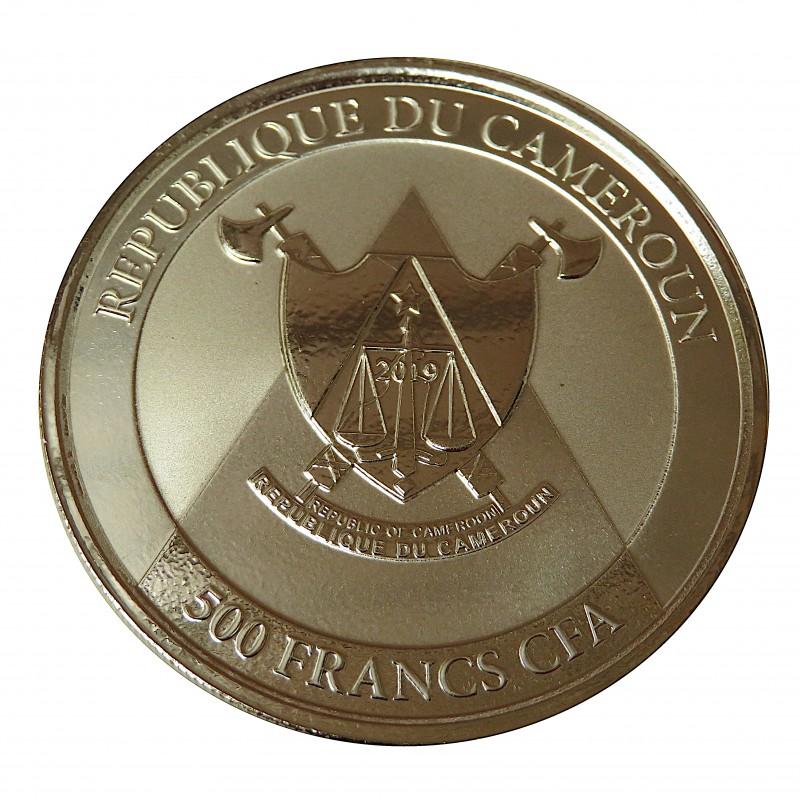 Camerúm, 500 Francs plata ( 1 OZ. 999 mls. ) Guepardo 2019