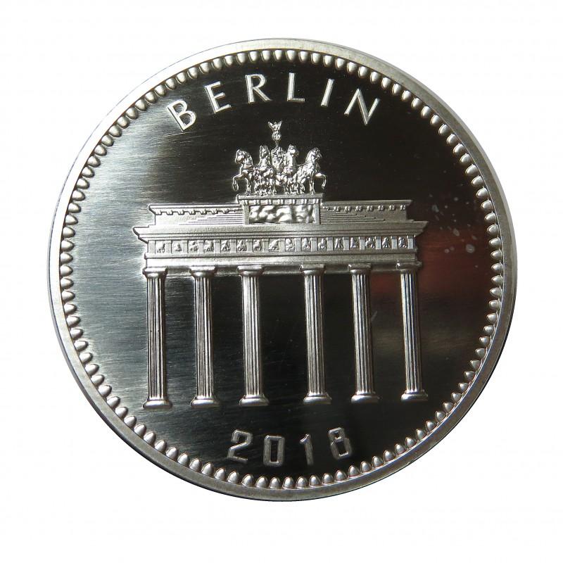 Alemania, 1 onza plata ( 31,10 gramos, ley 999 mls. ), Panda de Berlín, Cartera oficial.