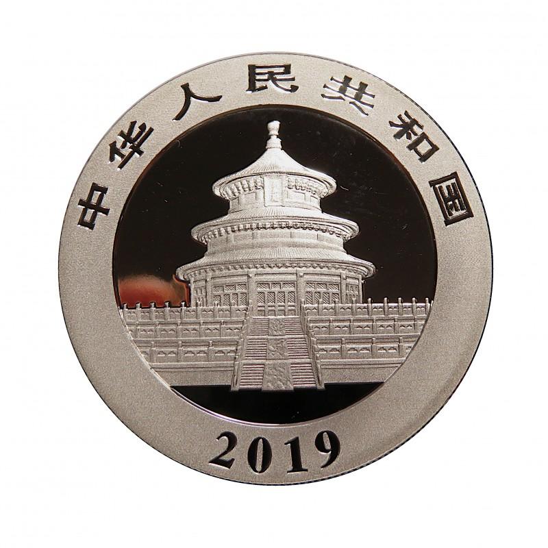 China, 10 Yuan ( 30 grs. Ley 999 mls. ) Panda 2019, coloreada, BU.