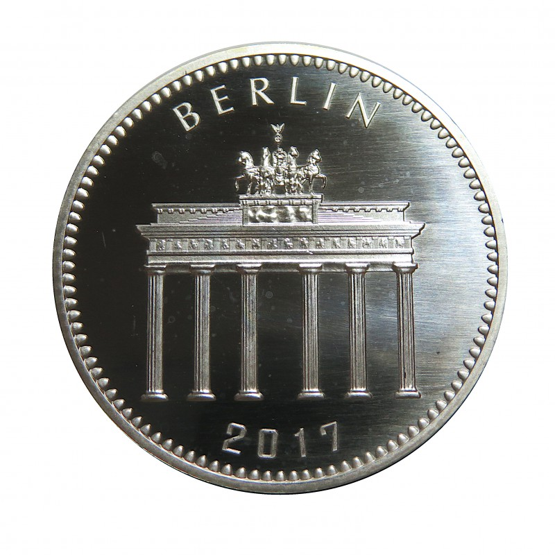 Alemania, 1 Onza Plata ( Ley 999 mls. ) Panda de Berlín 2017, BU.
