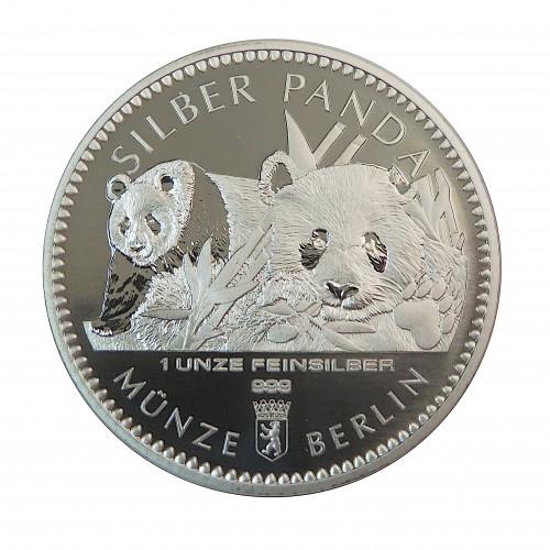 Alemania, 1 Onza Plata ( 31,10 gramos, Ley de 999 mls. ) Panda  Berlín 2016, BU.